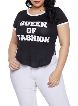 Plus Size Queen Of Fashion Graphic Tee - 1912062702383