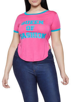 c839ce33bcc Plus Size Queen Of Fashion Graphic Tee - 1912062702383