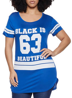 Plus Size Black is Beautiful Graphic Tee - 1912062702587