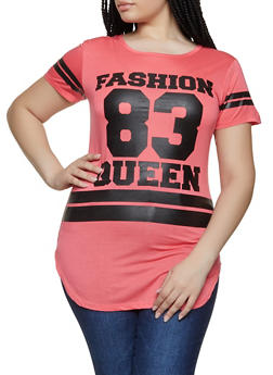 Plus Size Fashion Queen Tunic Top - 1912062702596