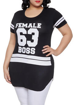 Plus Size Female Boss Graphic Tee - 1912062702598