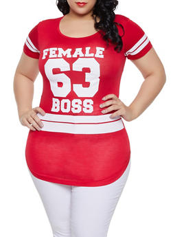 a52329ef4ee Plus Size Female Boss Graphic Tee - 1912062702598