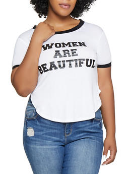 84b8c73db Plus Size Women Are Beautiful Tee - 1912062702609