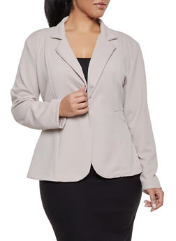 Plus Size Textured Knit Blazer | 1912062703084 - 1912062703084