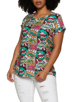 Plus Size Pop Art Top - 1912062703205
