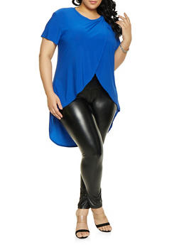 Plus Size Tulip Hem High Low Tee - 1912062705906
