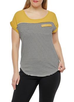 Plus Size Striped Top - 1912062706590