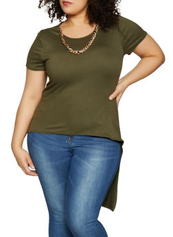 Plus Size High Low Tee - 1912066597018