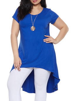 Plus Size Soft Blue Tunics