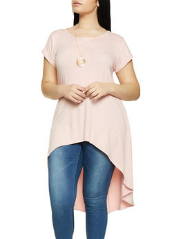 Plus Size Pink Tunic Tops
