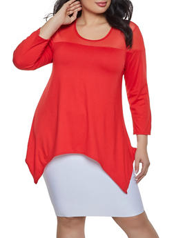 Plus Size Yoke Top