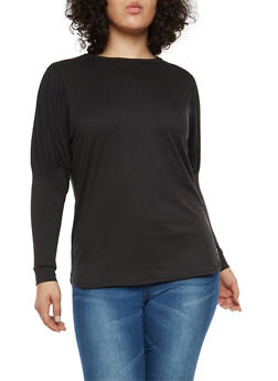 Plus Size Puff Sleeve Top - 1912074280302