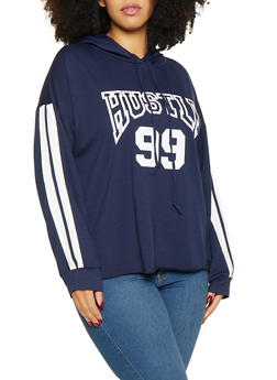 Plus Size Hustle Graphic Sweatshirt - 1912074281127