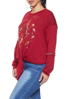 Plus Size Foil Graphic Sweatshirt - 1912074281150