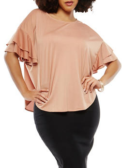 Plus Size Tiered Sleeve Top - 1912074281903