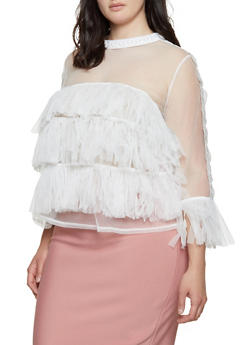 Plus Size Tiered Ruffle Top - 1912074282088