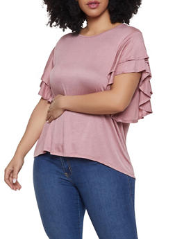 Plus Size Tiered Sleeve Tee | 1912074282446 - 1912074282446