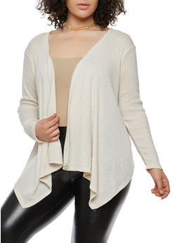 Plus Size Knit Cardigan - 1912074283302