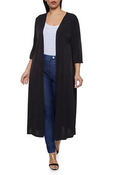 Plus Size Solid Duster | 1912074287226 - 1912074287226