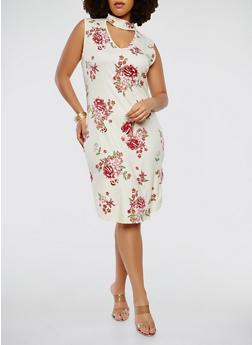 Plus Size Choker Neck Tank Dress - 1912074288103