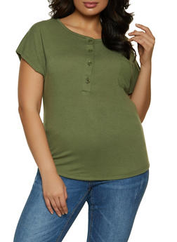 Plus Size Textured Knit Top - 1915038340238