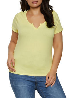 Plus Size Solid Top - 1915038340340