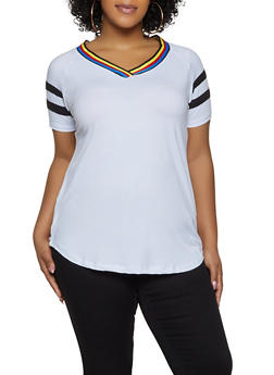 Womens Plus Size Soft White Tee