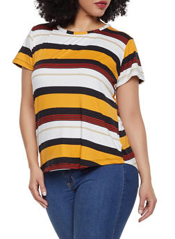 Plus Size Striped Tee | 1915038349331 - 1915038349331