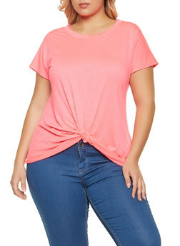 Plus Size Twist Front Top - 1915058751870
