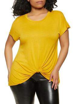 Plus Size Twist Front Top - 1915058751870