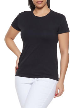 Plus Size Crew Neck Tee - 1915062702063