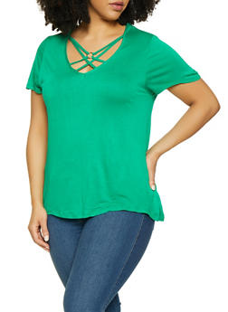 8811872f369 Plus Size Caged Tee - 1915074282011
