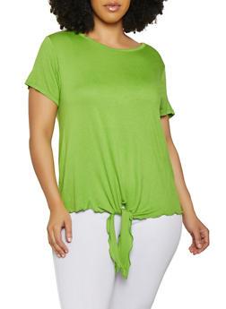 Plus Size Tie Front Top | 1915074287006 - 1915074287006