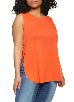 Plus Size Muscle Tank Top - 1916054261851