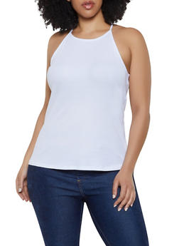 Plus Size Ribbed Knit Cami - 1916054269319