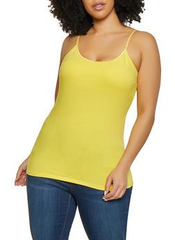 Plus Size Shelf Bra Cami - 1916062700110