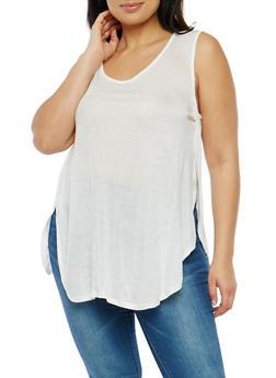 Plus Size Sleeveless Open Side Top - 1916074286866