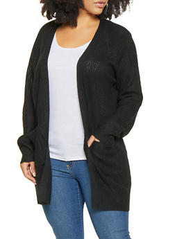Plus Size Long Cardigan - 1920054268840