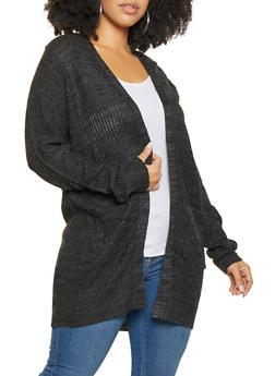Plus Size Long Cardigan - 1920054268840