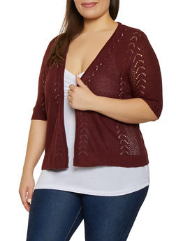 Plus Size Knit Cardigan | 1920074051738 - 1920074051738