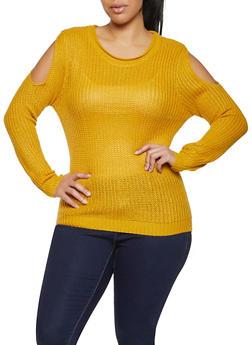Plus Size Slit Sleeve Sweater - 1920074051855