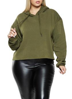 Plus Size Pullover Fleece Lined Sweatshirt - 1924072291234