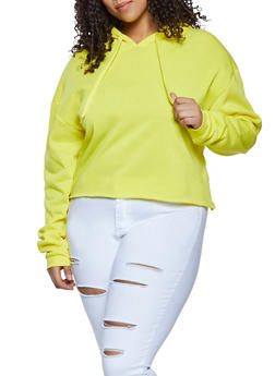 Plus Size Pullover Fleece Lined Sweatshirt - 1924072291234