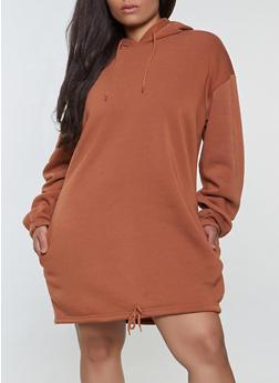 Plus Size Oversized Hooded Sweatshirt - 1924072293666