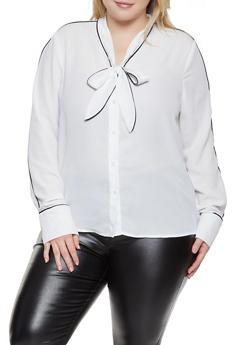 Plus Size White Shirts for Women