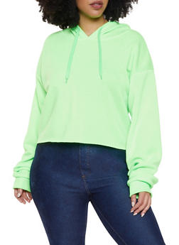 94f6582f719 Plus Size Fleece Lined Raw Cut Sweatshirt - 1926072290001