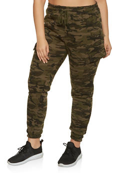 Plus Size Cargo Joggers | 1927063400203 - GREEN - 1927063400203