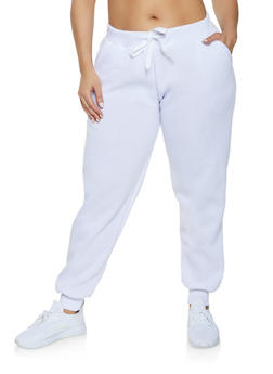 Plus Size Solid Sweatpants - 1927063400208