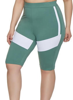 Womens Plus Size Multi Colors Shorts