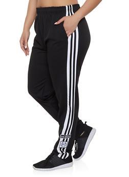 ddd1940b486 Plus Size Love Varsity Stripe Track Pants - 1927072290269